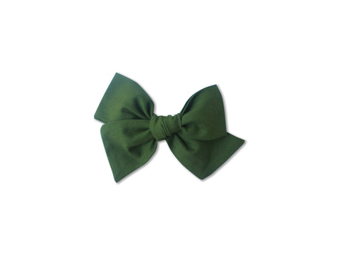 Ella |  Hand Tied Bow - Avocado
