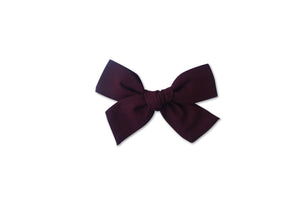 Ella |  Hand Tied Bow - Burgundy