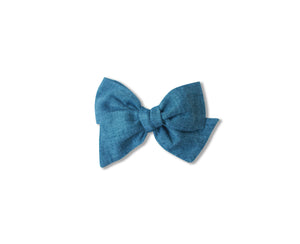 Ella |  Hand Tied Bow - Chambray