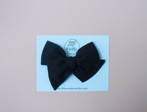 Ella | Hand Tied Bow - Licorice
