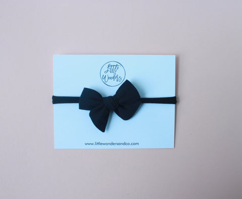 Ella | Petite - Hand Tied Bow - Licorice