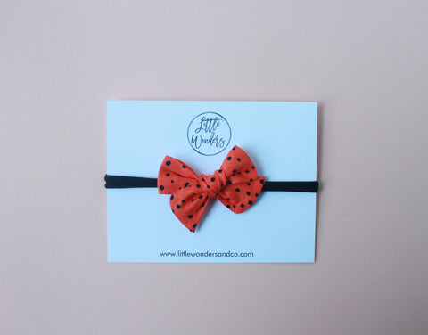 Ella | Petite - Hand Tied Bow - Phantom Dots
