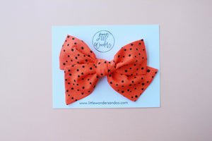 Ella |  Hand Tied Bow - Phantom Dots