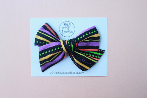 Ella | Hand Tied Bow - Hey Boo!