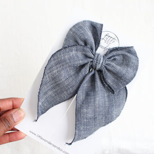 Marva | Sailor Bow - Denim