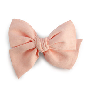 Ella |  Hand Tied Bow - Peach Dust