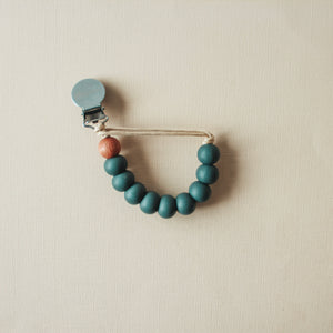 Carter | Pacifier Clip - Charcoal