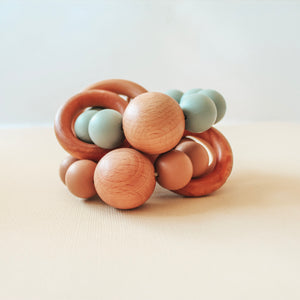 Caden | Silicone + Wood Teether - Caramel