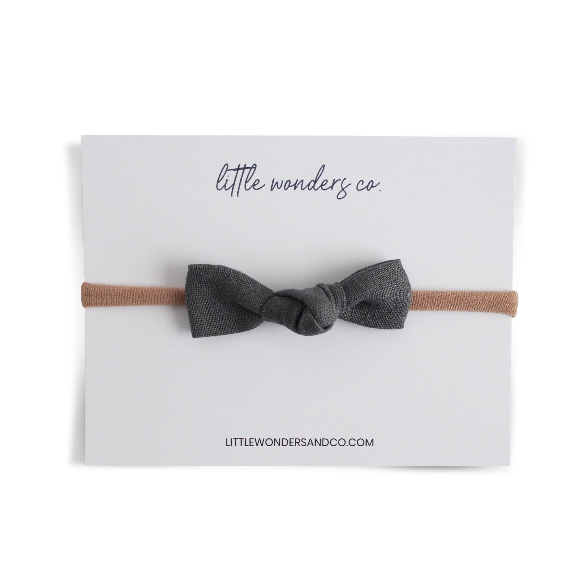 Luna | Petite Knot Bow - Natural Stone
