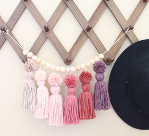 Tassel Garland | Pinks