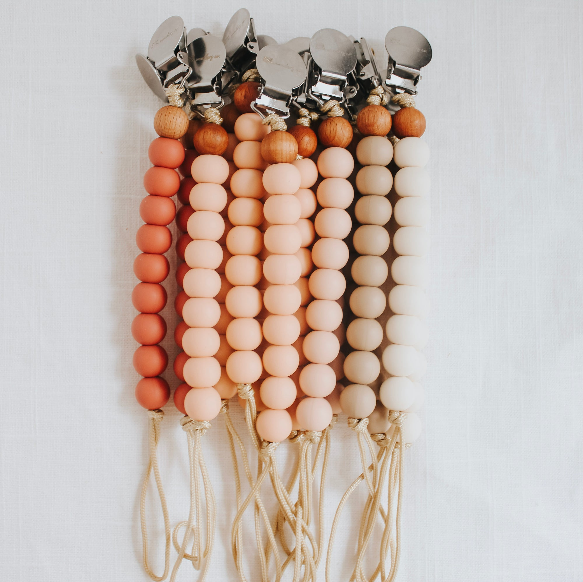 Carter | Pacifier Clip - Dusty Rose
