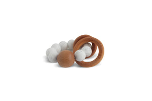 Caden | Silicone + Wood Teether - Snow Speckled