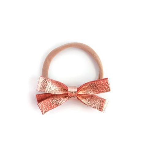 Pippa | Leather Bow - Rose Gold | Little Wonders Co.