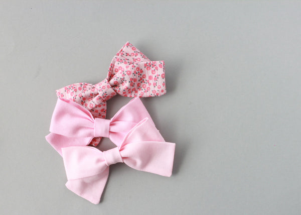 Marva |  Tied Sailor Bow - Floral Pink