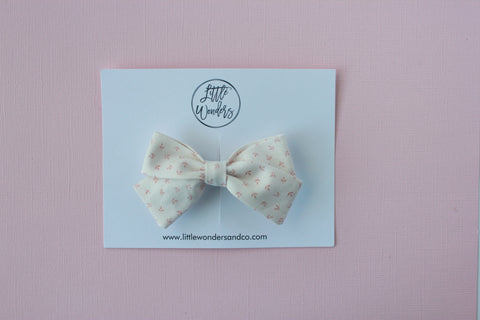 Marva |  Tied Sailor Bow - Peach Bloom