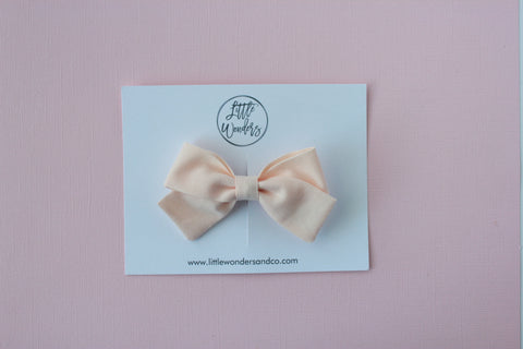 Marva |  Tied Sailor Bow - Soft Peach