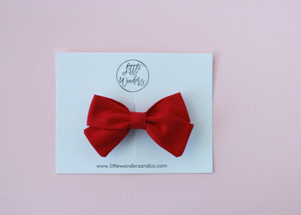 Marva |  Tied Sailor Bow - Berry
