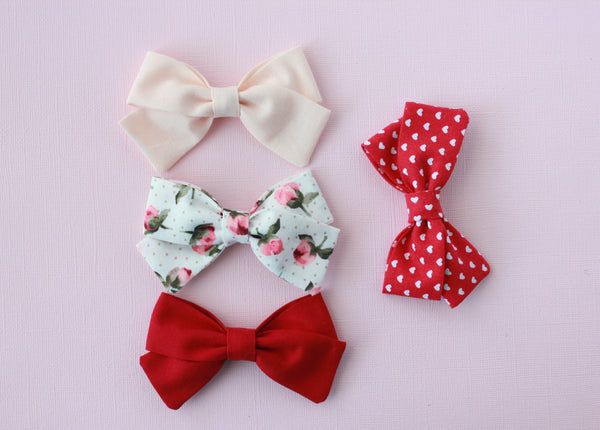 Marva |  Tied Sailor Bow - Sweetheart Red