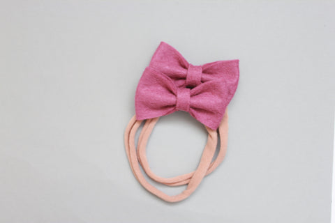 Mini Kenzie | Felt Bow - Mulberry