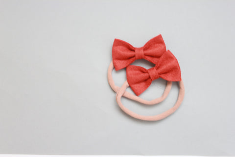 Mini Kenzie | Felt Bow - Copper