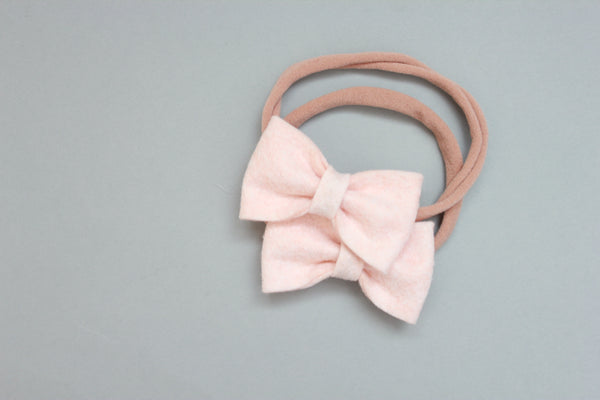 Mini Kenzie | Felt Bow - Oats