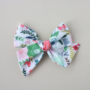Ella |  Hand Tied Bow - Riley Black On Trend White