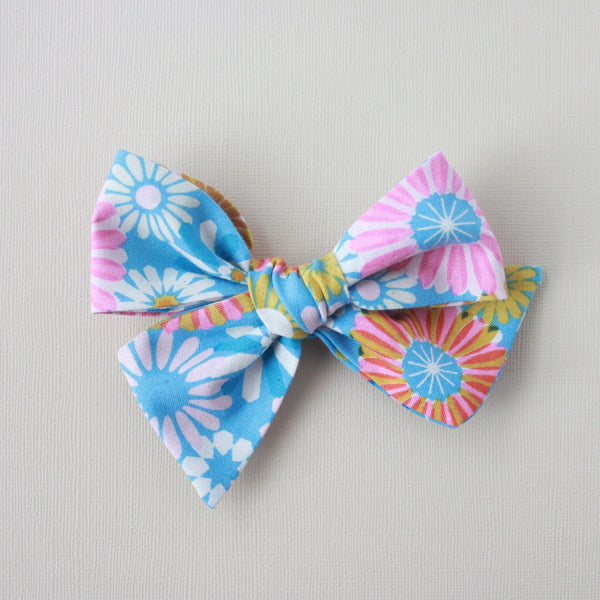 Ella |  Hand Tied Bow - Cotton + Steel Freshly Picked