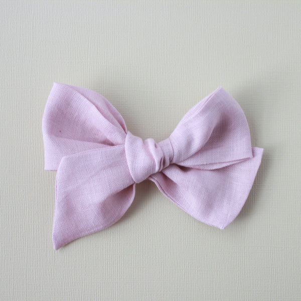 Ella |  Hand Tied Bow - Linen - Blushing Bride