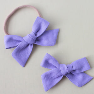 Eden |  School Girl Bow - Linen-Amethyst