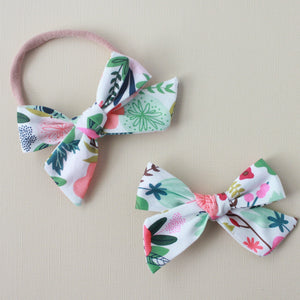 Eden |  School Girl Bow - Riley Blake On Trend White