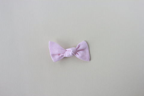 Luna |  Knot Bow - Linen - Rosy Glow