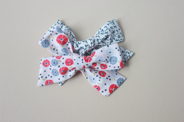 Eden |  School Girl Bow - Peacock Plume
