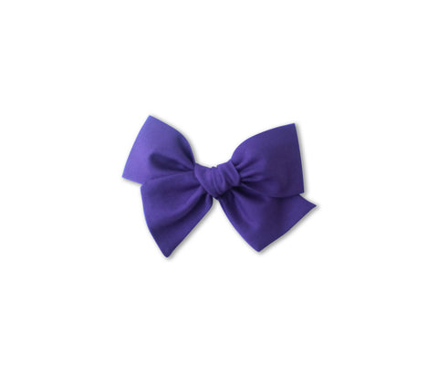 Ella |  Hand Tied Bow - Mulberry