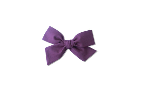 Ella |  Hand Tied Bow - Plum