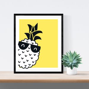 Too Cool Pineapple | Printable Wall Art