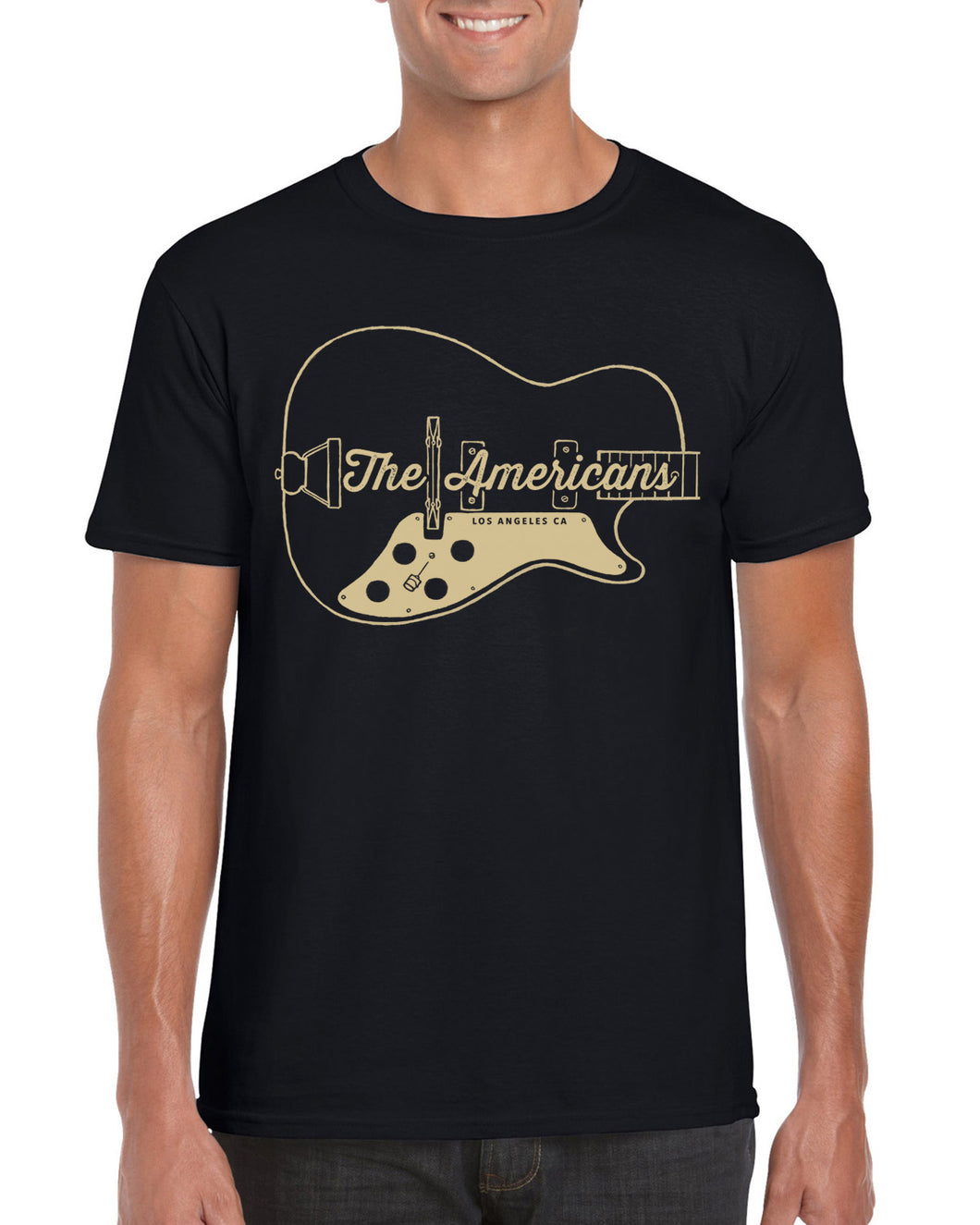 Guitar T-Shirt (gold/black)