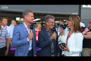 Suzi Perry and G-Hold iPad Tablet Holder at the British Grand Prix