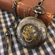 The Hampton - Black Gunmetal Steampunk Pocket Watch