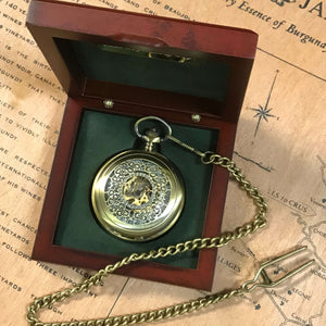 The Windsor - Brass Antique Steampunk Pocket Watch