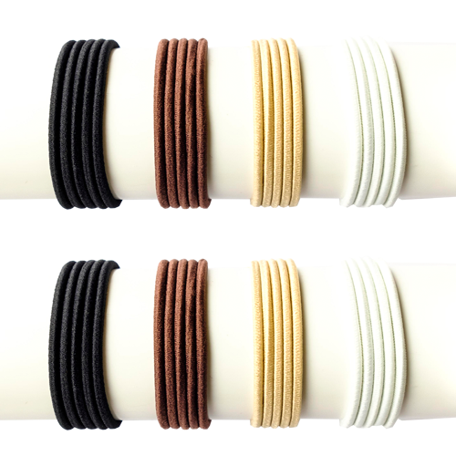 TIY is a premium colored customizable hair tie created for athletes that love fashion and high performance. DIY and easy to make, it adjusts to the volume of your hair avoiding breakages, stretch out dents, etc. Perfect for pony tail, sleek hair styles 8 pack discount