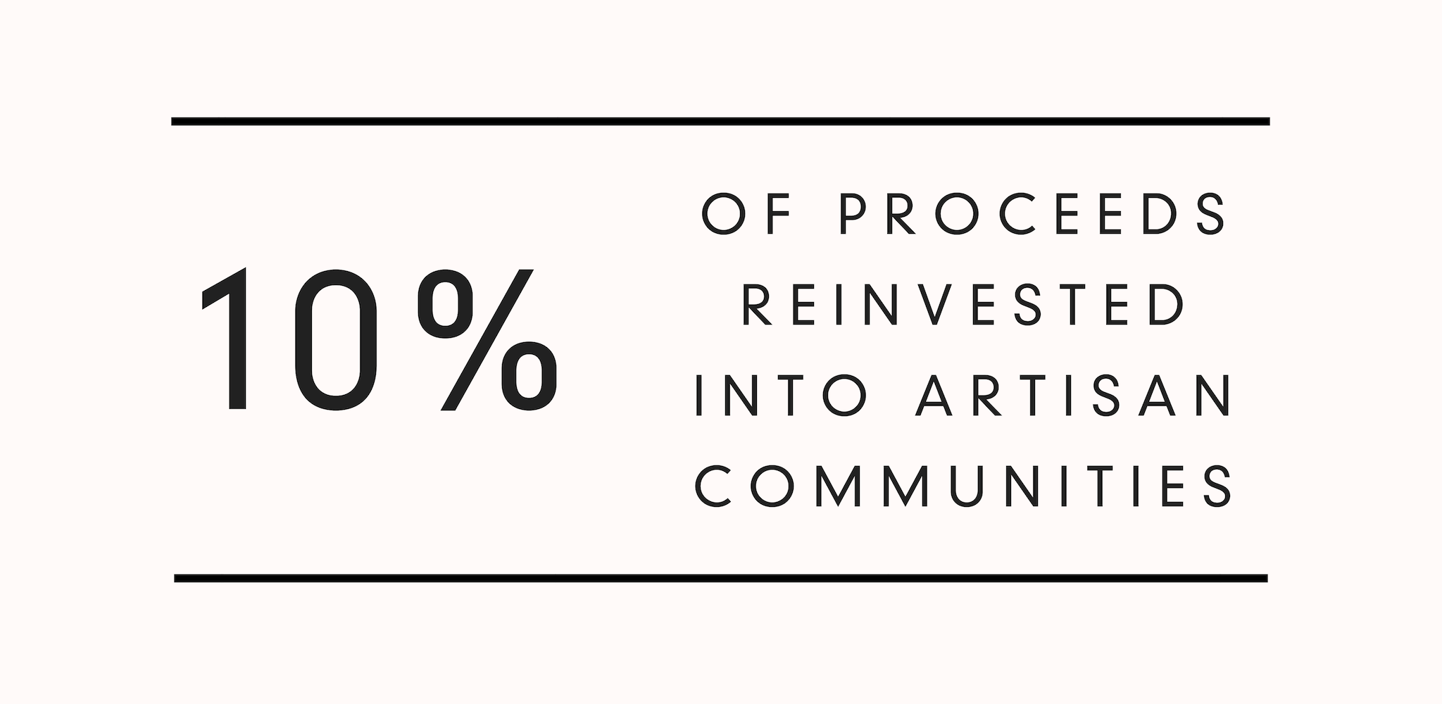 Kala Collective - 10% reinvested into artisan communities - social impact