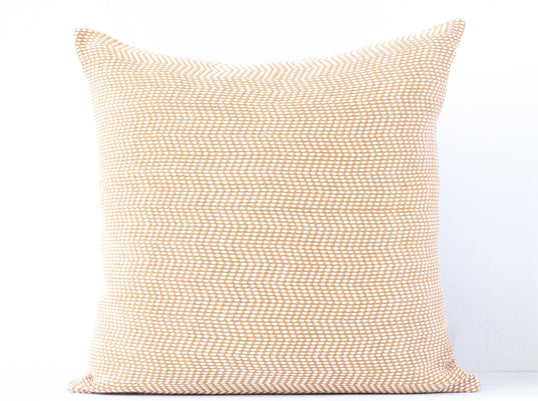 Kala Collective - Desierto Pillow - Camel & Cream - 18x18 - Fair Trade Throw Pillow