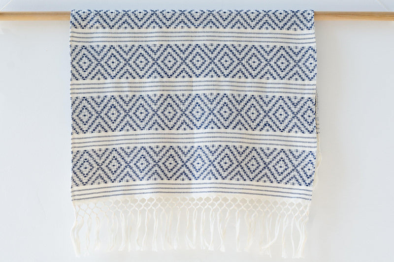 Kala Collective - Rombos Hand Towel - Marine Blue