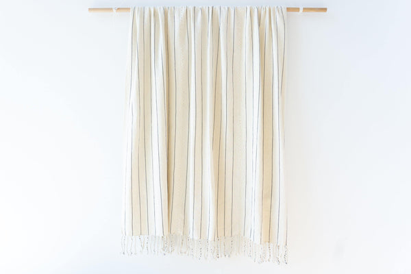 Kala Collective - San Juan Blanket - White - Natural Dye Cotton