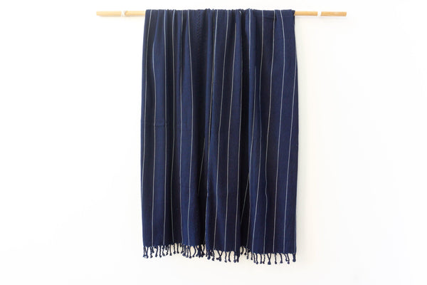 Kala Collective - San Juan Blanket - Indigo - Natural Dye Cotton