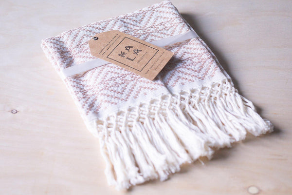 Kala Collective - Mayarte Hand Towel - Blush - Cotton Hand Towel