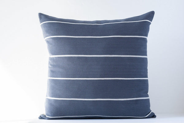 Kala Collective - Liso Pillow - Zinc and Ivory - 20x20