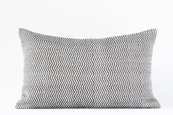 Kala Collective - Santiago Pillow Lumbar - 12 x 20 - Black & White Chevron