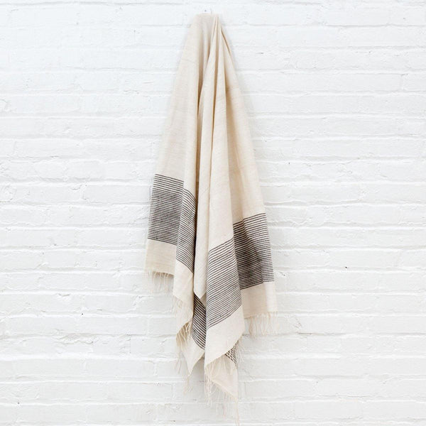 Riviera Cotton Bath Towel - Grey - Kala Home - Bath