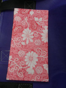 Peachish Pink w\Flowers & Butterflies Wonder Wallets & Server Books